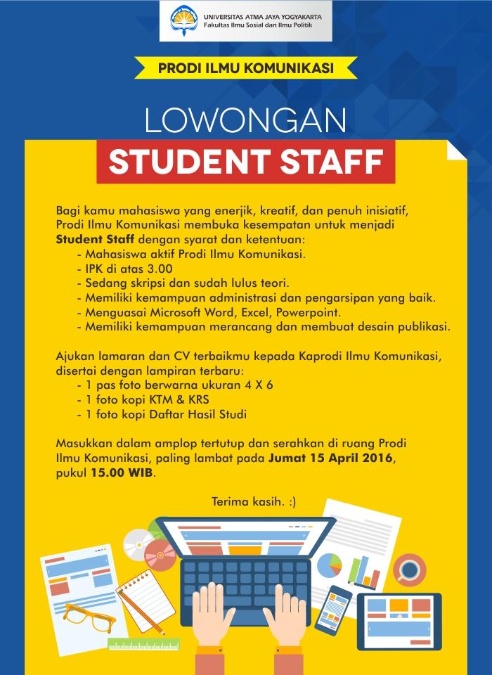 Lowongan student staff_web