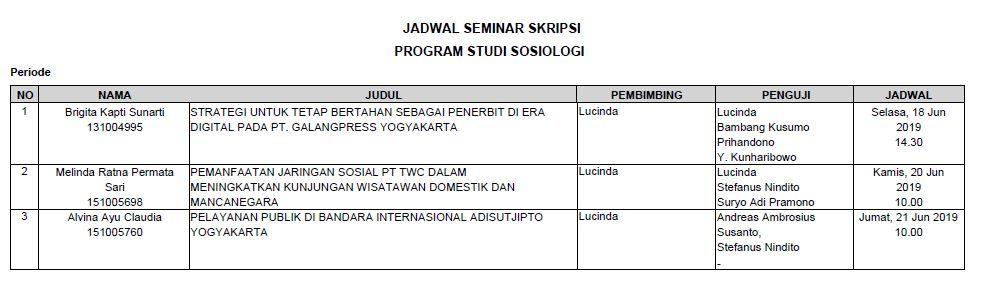 Seminar Proposal Skripsi Juni Fakultas Ilmu Sosial Dan Ilmu Politik